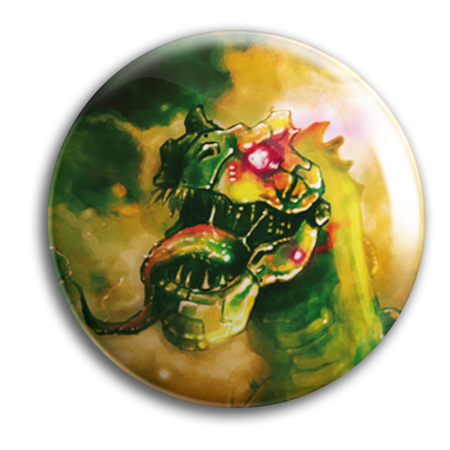 Button - BASSZILLA - Fury Monster