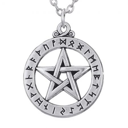 Necklace - Runes Pentagram