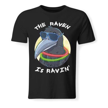 T-shirt Man - EXTIZE - The Raven is Ravin' (DJ Cyberella)