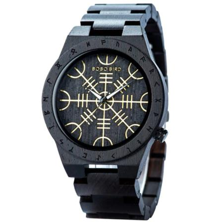 Wristwatch - Viking Wood Black