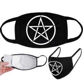 Face Mask - DARKMERCH - Pentagram Up